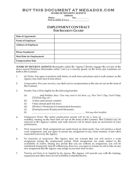 Equipment Hire Contract Template