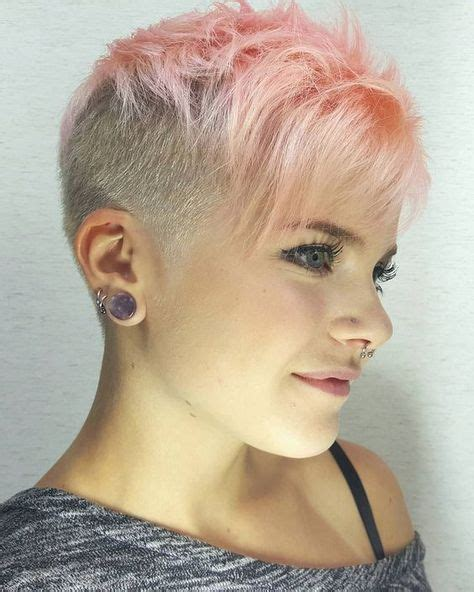 part shaved hairstyles for women 1474 best she shorn images on pinterest androgynous