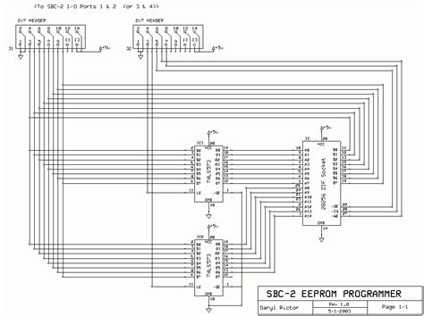 eeprom circuit diagram eeprom programmer circuit