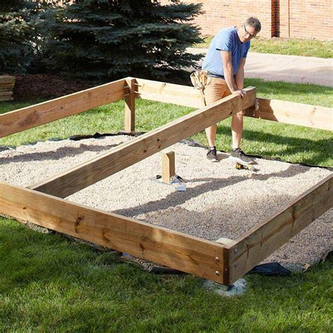 building and setting deck posts and footings gardening