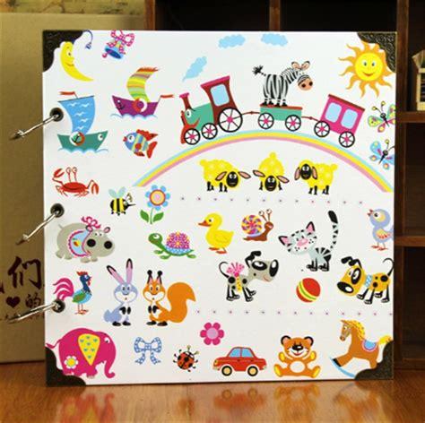 World Diy Photo Album Large Album Foto Besar 12 inch animal happy world diy handmade children s adhesive photo books foto album scrapbook 30