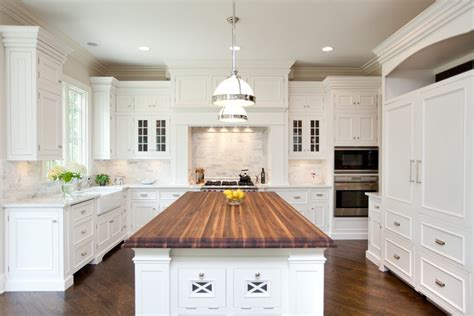 white kitchen cabinets with white countertops white kitchen cabinets with butcher block countertops