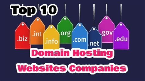 top   domain hosting websites companies