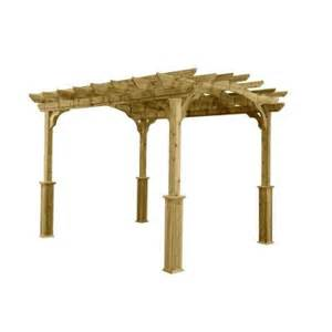 Home Depot Pergola by 10 Ft X 12 Ft Wood Pergola Pa1012 The Home Depot