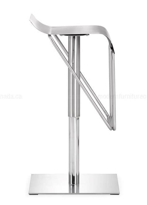 modern bar stools stainless steel zuo modern dazzer adjustable height bar stool stainless