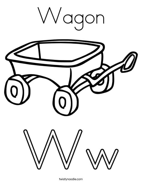 wagon coloring page twisty noodle
