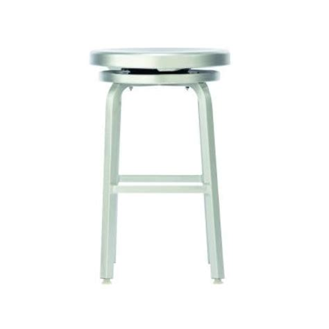 brushed aluminum counter stools home decorators collection melanie swivel counter stool in