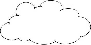 Clipart Cloud Outline  ClipartFest sketch template