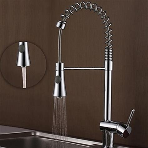 modern faucet kitchen contemporary chrome brass one single handle