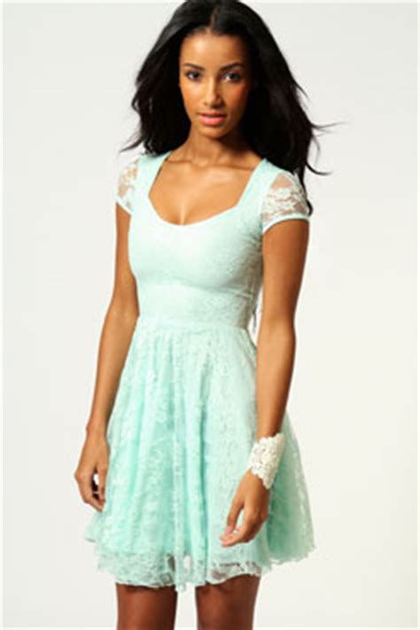 Sandal Meek Fladeo Uk 40 caroline cap sleeve lace skater dress at boohoo
