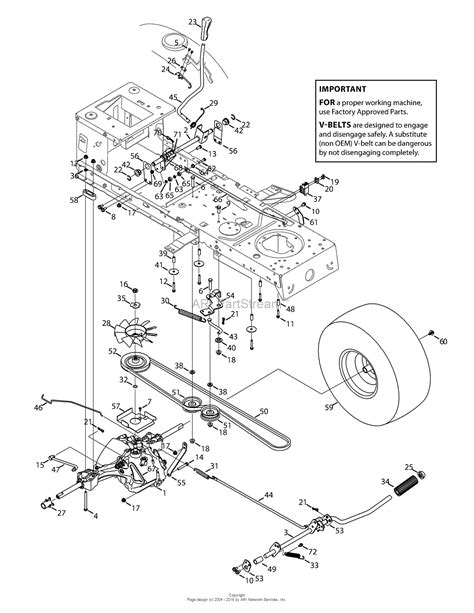 troy bilt lawn mower belt diagram troy bilt 13a879ks066 tb42 hydro 2015 parts diagram for