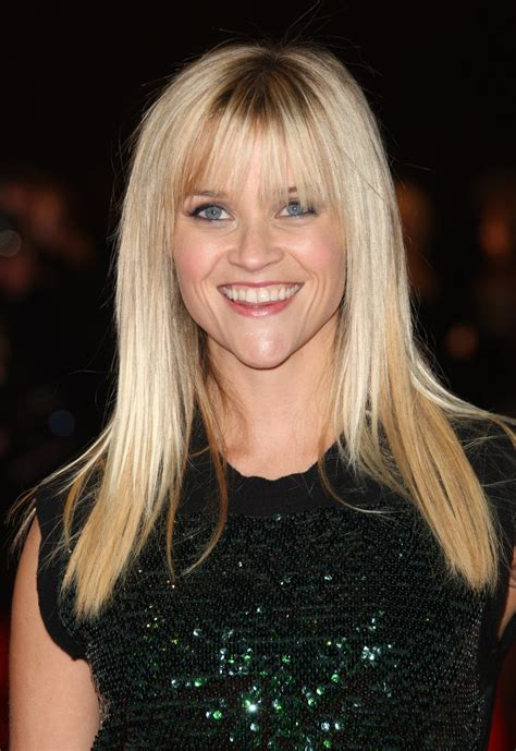 pholtos of various bang styles hair the different reese witherspoon hairstyles with bangs