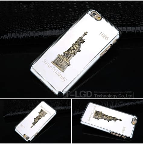 Luxury Motif Eiffel Iphone 6 6s free shiping 1pcs metal phone cases for iphone 6 4 7 inch luxury eiffel tower model
