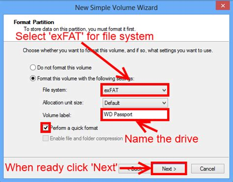 format exfat file system how to format a wd hard drive to exfat or fat32 file
