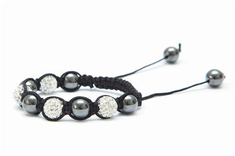 white pave clay shamballa bracelet diy kit