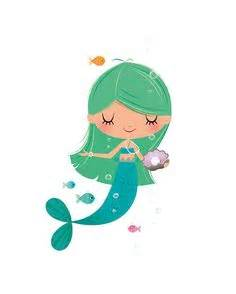 cartoon mermaid   cute cartoon mermaid with seahorse