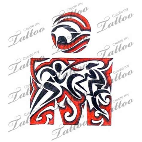 triathlon tattoos design tribal triathlon tattoos carpe diem swim
