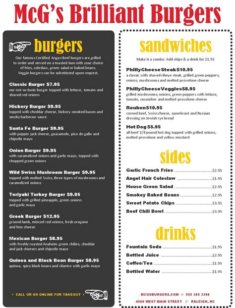 Backyard Cafe Menu by Backyard Burger Menu Musthavemenus Restaurant Ideas