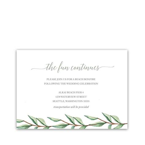 wedding reception cards wedding save the dates watercolor floral greenery