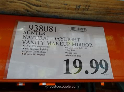 lighted makeup mirror costco makeup mirror with light costco makeup vidalondon