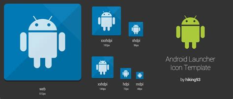android app icon template android launcher icon template by hiking93 on deviantart