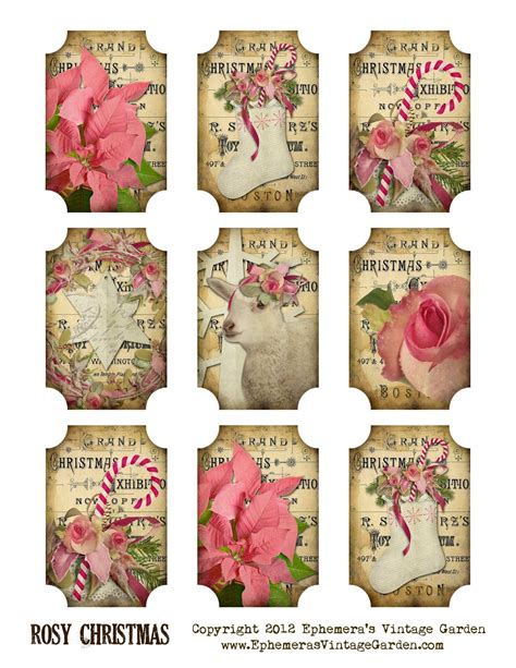 printable gift tags on pinterest free printable vintage gift tags free printable rosy