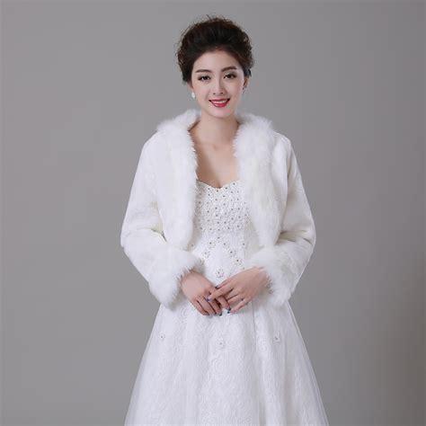 braut bolero winter women winter faux fur long sleeve wedding jacket bolero