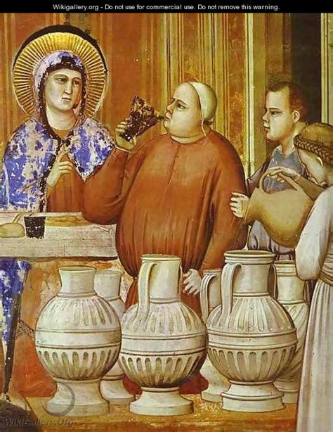 Wedding At Cana Giotto by The Wedding Feast At Cana Detail 1304 1306 Giotto Di