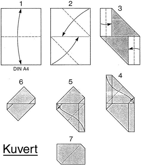 how to fold a4 paper into an envelope kuvert envelope from a4 paper origami paper pinterest