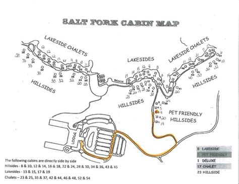 salt fork cabin map picture of salt fork state park