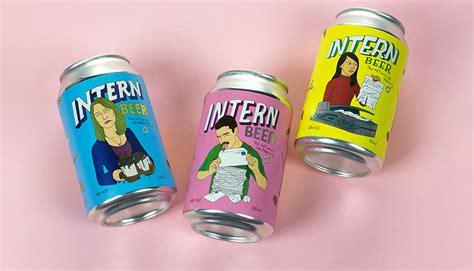 beer internship intern beer multi color australia label showcase