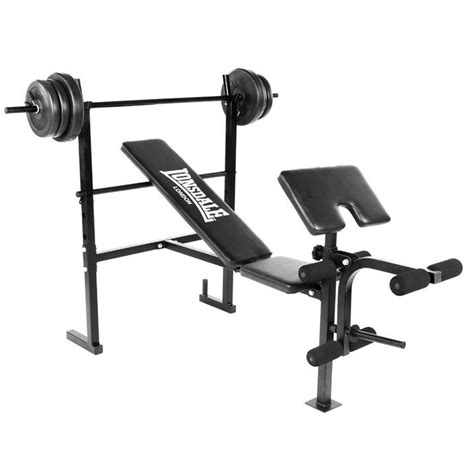 weight bench equipment lonsdale weight bench training exercising home gym