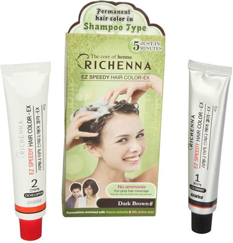 based hair color richenna shoo based hair color price in india buy