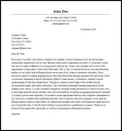 teaching cover letter for new teachers elementary cover letter itubeapp net