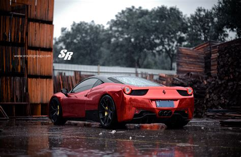 chrome ferrari red chrome ferrari 458 italia on pur wheels autoevolution