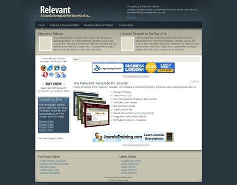 relevant premium joomla template by joomlashack