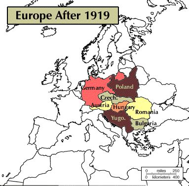 europe map 1919 map of europe after 1919g