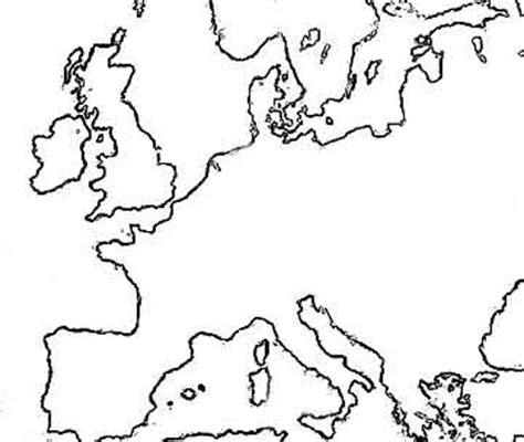 Europe Continent Outline by Europe Continent Outline