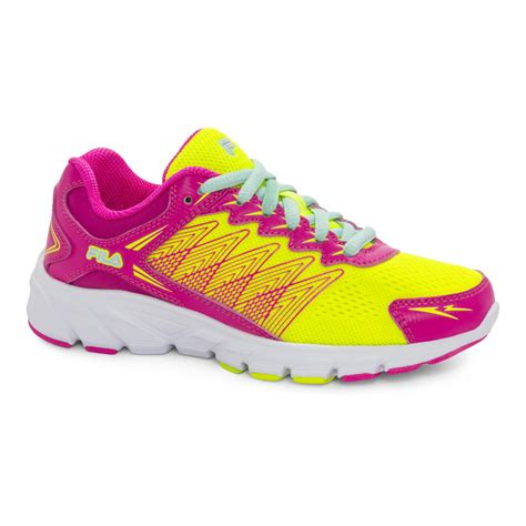 neon athletic shoes fila speedcross pink neon yellow athletic shoe