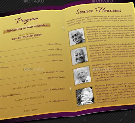 free church program templates church anniversary service program template designingbucket