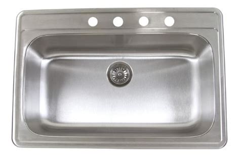 discount 33 inch 18 stainless steel top mount