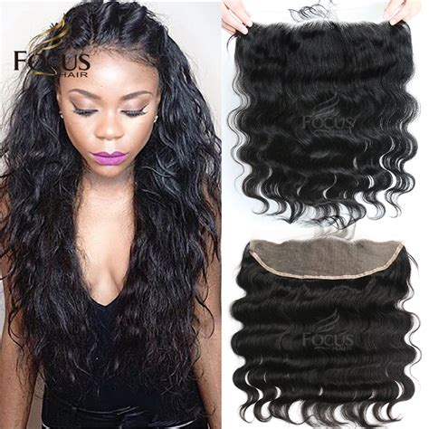 short hairstyle with front lacr closer 7a brazilian lace frontal closure 13x4 body wave ear to