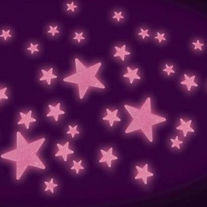 pink glow in the dark glitter stars