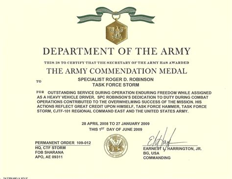 army achievement medal certificate army achievement medal certificate template choice image