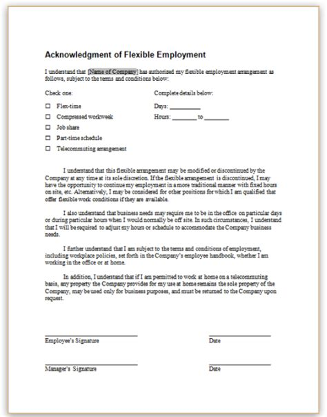 telework agreement template telecommuting agreement template 28 images