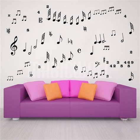 musical wall stickers set of musical notes wall decals wall stickers canada