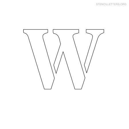 printable small stencils small letter w www pixshark com images galleries with