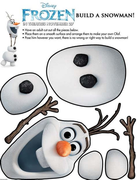printable olaf birthday decorations olaf stabile da costruire natale christmas