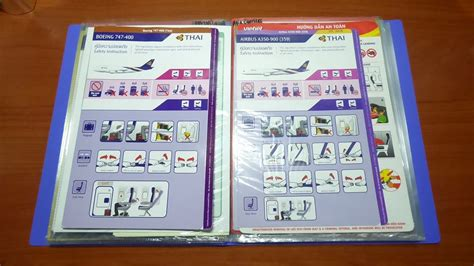 Collection Of Airline Safety Cards by My Airline Safety Card Collection