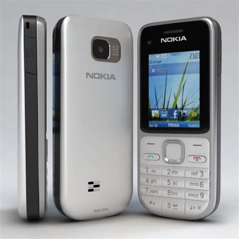 format video nokia c2 3d nokia c2 01 white silver cell phone model